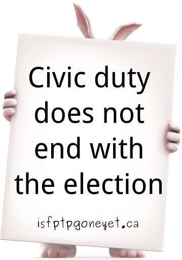 Civic duty does not end with the election